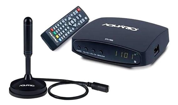 Kit Conversor Digital Dtv7000s + Antena Dtv Dtv100 4k Hdmi