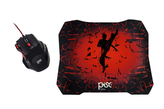 Kit Mouse Gamer 7 Botões + Mouse Pad - Super Combo Nfe
