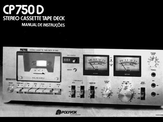 Manual Tape Deck Polyvox Cp750d - Cópia Digital 19 Pags