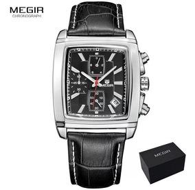 Relógio Masculino Original Megir 2028 Executivo Frete Gratis