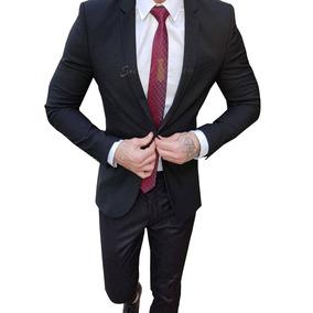 Terno Social Masculino + Sapato Social Verniz + Camisa Slim