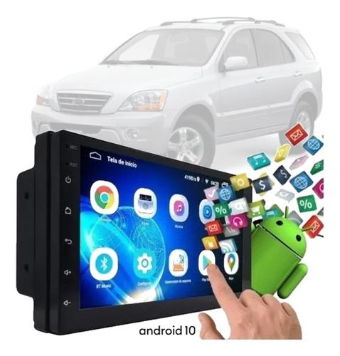 Imagem 1 de 10 de Central Android Gps Full Hd Espelha Ios Sorento 2007 A 2009