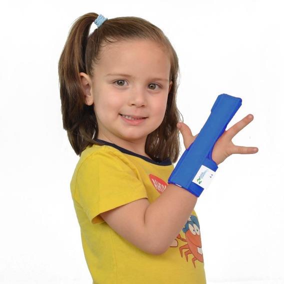 Inmovilizador Infantil Para Dedo Medio Azul