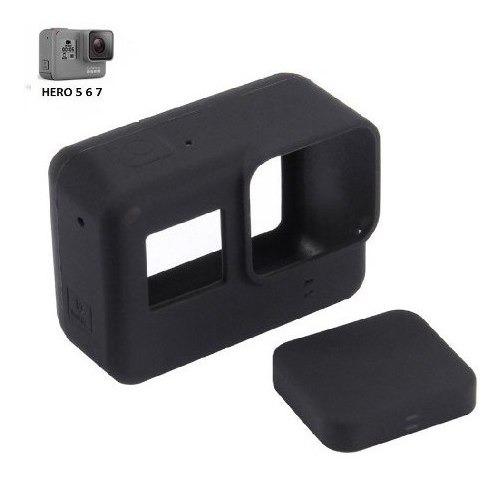 Capa Protetora De Silicone Para Gopro Hero5 6 E Hero7 Black