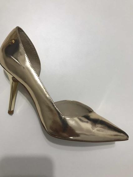 Sapato Social Scarpin Da Grife Capodarte - Dourado - Tam 35