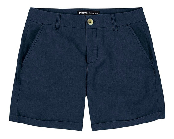 Shorts Básico Feminino Em Linho Hering