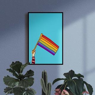Quadro Decorativo Em Mdf Artesanal Bandeira Lgbt