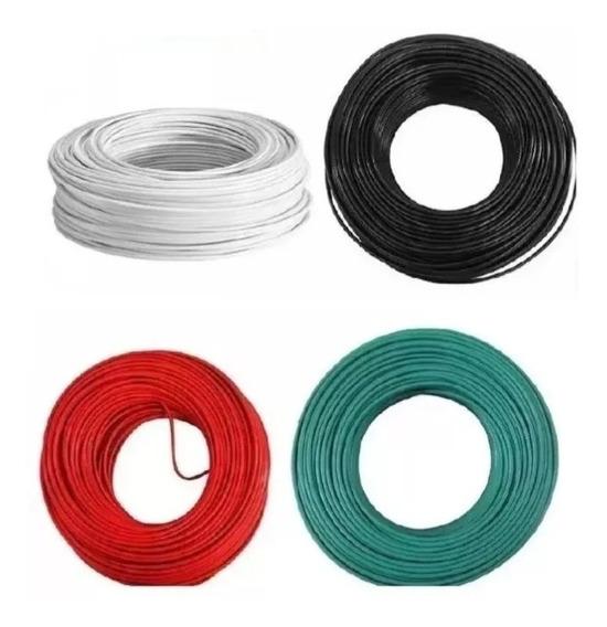 Cable Electrico Iusa Cobre Puro Thw Calibre #10 100m Colores