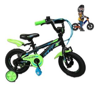 Bicicleta Niño Gw Rin 12 Lighting Con Accesorios Promoción