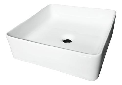 Imagen 1 de 6 de Bacha De Apoyo Blanca De Loza De 37 X 37cm