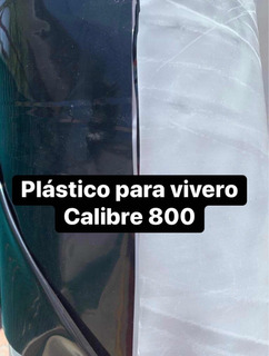 Plastico De Vivero Calibre 800 Doble Cara Blanco/negro 6x21