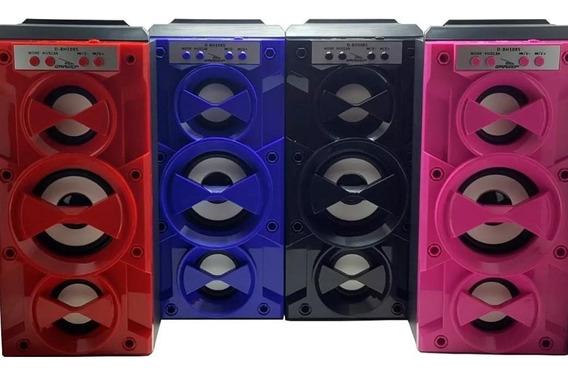 Caixa De Som Caixinha Bluetooth Torre Portátil Mp3 Fm Sd Usb