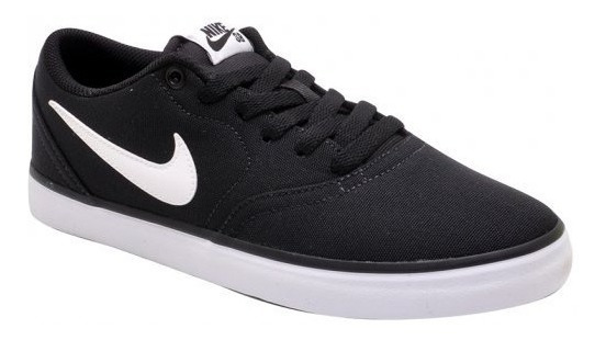 Tênis Nike Sb Check Solar Cnvs 843896-001 Black/white