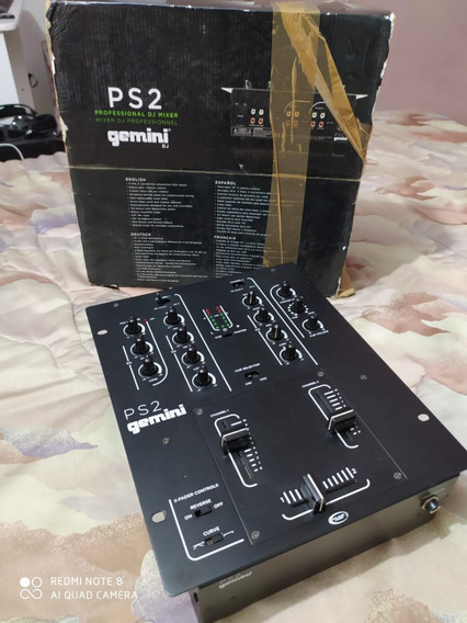 Mixer Gemini Ps2 - 2 Canais (semi Novo)