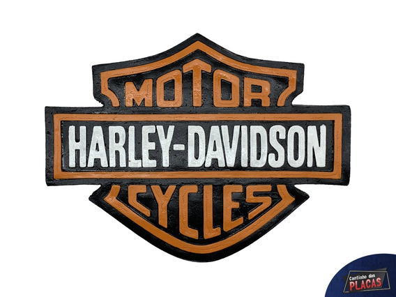 Harley Davidson Placa Vintage Retro Moto Quadro Decoração