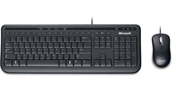 Kit Teclado E Mouse Microsoft Wired 600 Preto