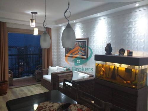 Apartamento Com 3 Dormitórios À Venda, 65 M² Por R$ 420.000,00 - Gopoúva - Guarulhos/sp - Ap3380