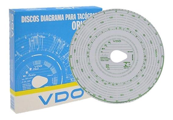 Disco Tacografo Diario 125km X 24h Vdo (cx Com 100 Unidades)
