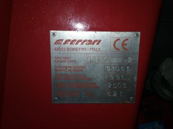 Grúa Hidráulica Ferrari F540 A2 Para Camión