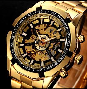Relógio Automático Esqueleton Winner Forsining Aprova D Água