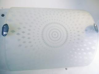 Aplique Plafon Rectangular De Vidrio Para Lampara E27 Decoración + Lampara Led De Regalo