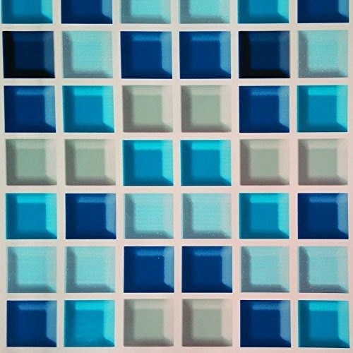 Simplelife4u Royal Blue Mosaic Contacto De Papel Selfadhesiv