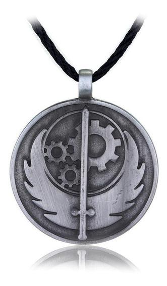 Colar Brasão Brotherhood Of Steel Fallout 4