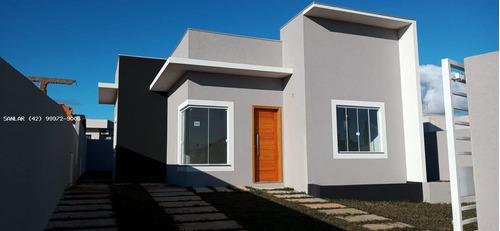 Imagem 1 de 15 de Casa Para Venda Em Ponta Grossa, Nova Ponta Grossa, 3 Dormitórios, 1 Suíte, 1 Banheiro, 2 Vagas - _1-1820675