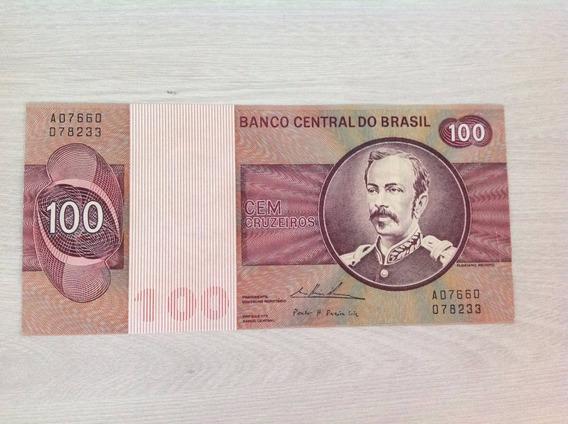 L-1680 - C-146b - Cr$ 100,00 - Rara Cédula Original - 1974