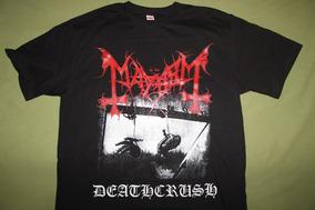 Gusanobass Playera Rock Metal Black Mayhem Deathcrush M Y L