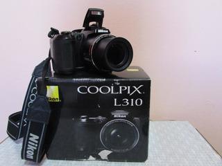 Camara Semiprofesional Nikon Coolpix L310 14.1 Mpx 21x Hd