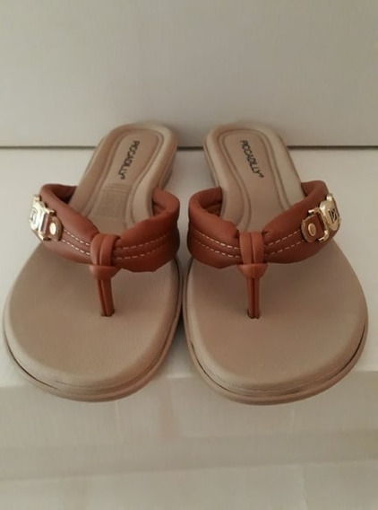 Chinelo Piccadilly Confort Ocre
