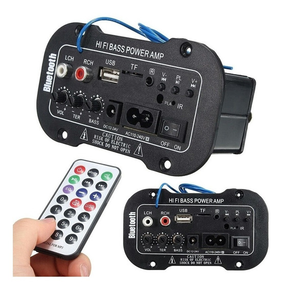 Kit 3 Placa Amplificada Decodificador Mp3/ 50w Usb Bluetooth