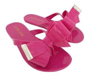 Chinelo Petite Jolie J-lastic Na Cor Pink Lemonade Pj 4533.