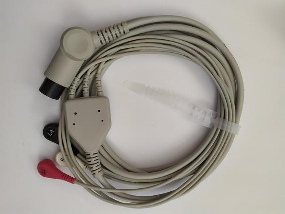 Cable Ecg Tres Puntas Snap Para Monitor Datascope/mindray/