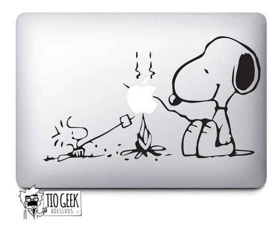 Adesivo Para Notebook Snoopy Marshmallow / Peanuts Macbook