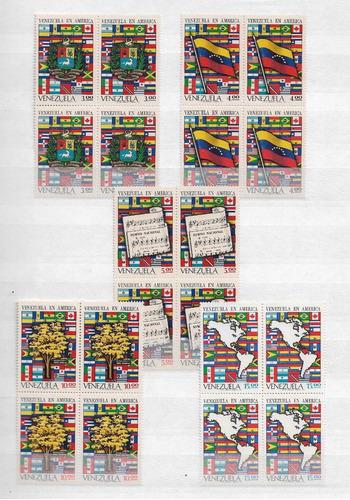Imagen 1 de 1 de 1972 Estampillas ;venezuela En America Cat 140 $ ,,bloque 4