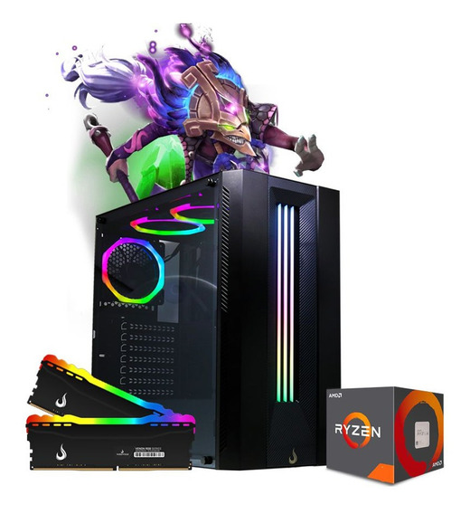 Pc Gamer Spectrix Rgb Amd Ryzen R3 3200g, 2x8gb Hd 500gb