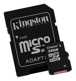 Memoria Micro Sd 32 Gb Kingston Hd Video Clase 10 Original