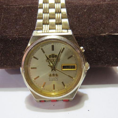 Relógio Orient Automático Clássico  Crystal 21 Jewels