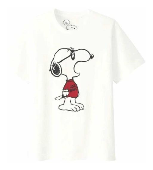 Playera Kaws X Uniqlo X Peanuts Blanca Snoopy Original