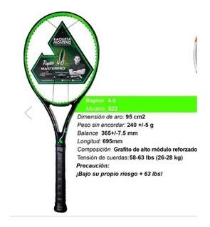 Raqueta Frontenis Masterpro Raptor 4.0 Encordado Envio 12msi