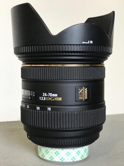Lente Sigma 24-70 2.8 Nikon Ex Dg Hsm Full Frame Perfeita