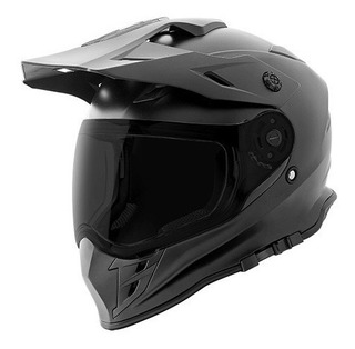 Casco Joe Rocket Doble Proposito Rkt25 Tri Sport Negro Mate