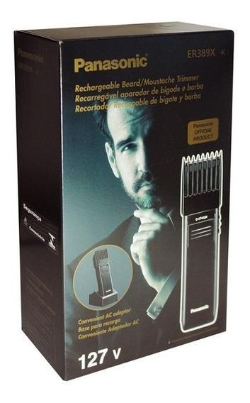 Máquina De Corte Barba Cabelo Bigode Profissional 12x S. Juros Er389x Modelo Novo 110v, Panasonic