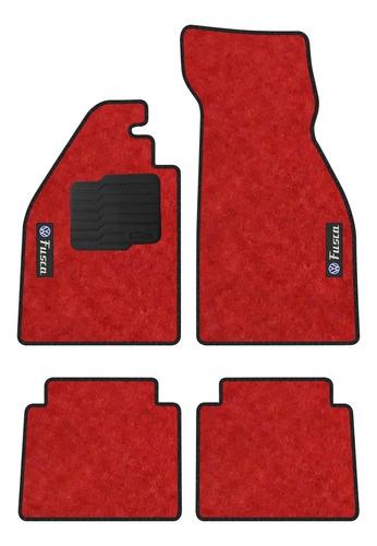 Imagem 1 de 4 de Jogo Tapete Vw Fusca 1959 A 1996 4pçs Carpete - Linha Bronze