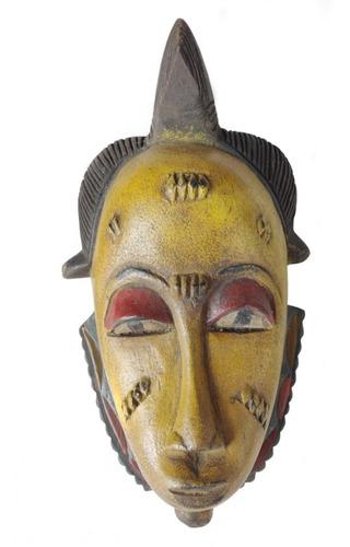 Máscara Africana Em Madeira Decorativa