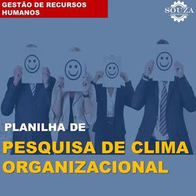 Planilha Pesquisa De Clima Organizacional