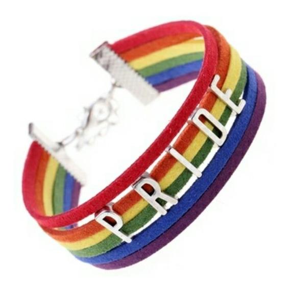 Pulsera Gay Pride Arcoiris Gamuza Arcoíris