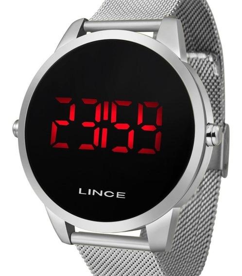 Relógio Lince Digital Masculino Mdm4586l Pxsx Aço Prateado
